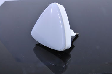 China Triangle Type Auto Sensor LED Night Light , 120V / 230V Indoor Baby Room Night Light supplier