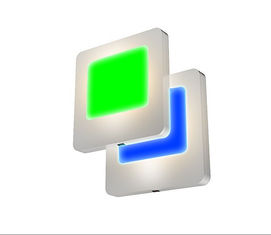 China Green / Blue LED Energy Saving Night Light Flat Panel Design With Manual Switch supplier