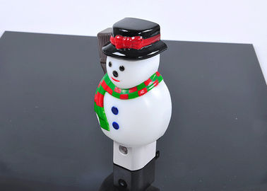 China Snow Man Battery Operated Night Light Energy Saving Rechargeable For Kids supplier